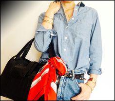 ★デニムonデニム王道コーデに自分らしさをちょい入れる。&クロコダイルバッグ。 DORILOGーー今日のおしゃれ、明日のデザイン。
