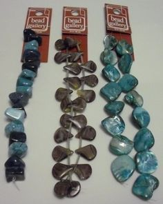 BEAD GALLERY BEADS LOT OF 3 LOVELY BEAD STRANDS NEW LOT # 4 #BeadGallery