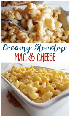 Creamy Stovetop Mac & Cheese is so easy and makes a perfect side dish for a quick pizza night! #EasyHolidayEats [ad]