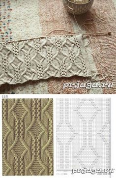 УЗОРЫ СПИЦАМИ - Knitting patterns, knitting designs, knitting for beginners. Lace Knitting Patterns, Knitting Stiches, Cable Knitting, Knitting Charts, Easy Knitting, Knitting Designs, Knitting Projects, Stitch Patterns, Gilet Crochet