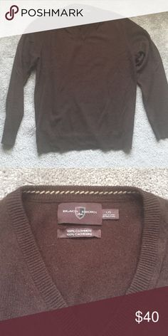 Brown Cashmere Black Brown 1826 Sweater Brown cashmere sweater from Black Brown 1826. Size large but fitted look. Black Brown 1826 Sweaters V-Neck