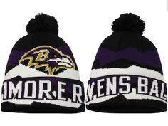 b5673da51 2017 Winter NFL Fashion Beanie Sports Fans Knit hat Baltimore Ravens Hat