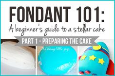 Fondant A Beginner's Guide to a Stellar Cake (Part Have you ever wished you could make a really professional-looking cake? This two-part series will teach you everything you need to know about how to make a fancy fondant cake, starting with part on Making Fondant, Fondant Tips, Fondant Icing, Fondant Cakes, Cupcake Cakes, Fondant Recipes, Cake Recipes, Cupcakes, Fondant Recipe For Beginners