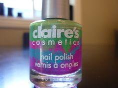Green purple and blue nail polish