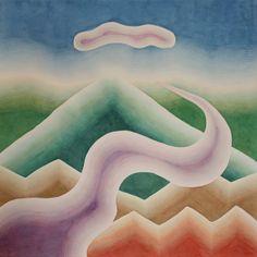 "Susan Pasquarelli - Mountains & Rivers No. 5 - 25x25"" watercolor"
