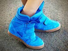 sneakers com salto azul - Pesquisa Google