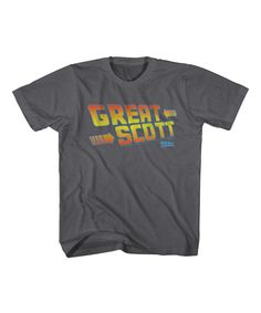 Look at this #zulilyfind! Charcoal Heather 'Great Scott' Tee - Boys by American Classics #zulilyfinds