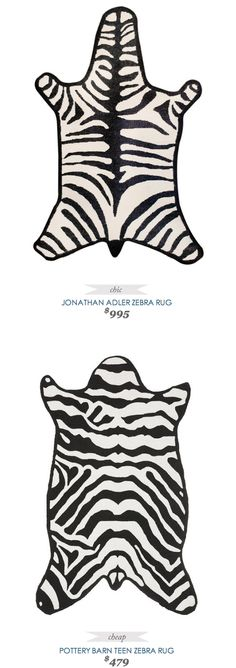 COPY CAT CHIC FIND | JONATHAN ADLER ZEBRA RUG