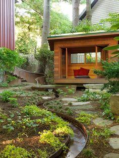Meditation Hut, Meditation Garden Small Garden Pictures Julie Moir Messervy Design Studio Saxtons River, VT