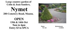 Nymet Open Garden Weekend October 13th and 14th 2012. 280 Cemetary Road, Maunu, Whangarei