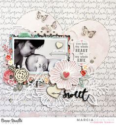 One Scrap at a Time: Cocoa Vanilla Studio Scrapbook Layout by Marcia Dehn-Nix.
