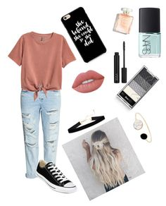 """""""School Outfits!"""" by allygoen on Polyvore featuring H&M, Converse, NARS Cosmetics and Lime Crime"""