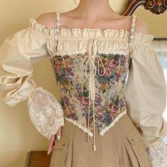 Vintage Dresses, Vintage Outfits, Vintage Fashion, Vintage Corset, Old Fashion Dresses, Fashion Outfits, Fashion Skirts, Aesthetic Fashion, Aesthetic Clothes