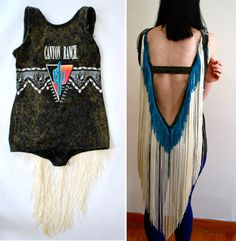 I totally want a super long fringe-back leotard for shows! Love this!