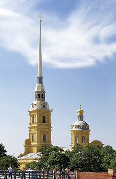 The Cathedral of S.S. Peter and Paul is the oldest church in St. Petersburg, Russia and boasts to be the tallest Orthodox Church in the world!. On April 1, 1704, it became St. Petersburg first landmark. Further construction was done by Domenico Trezzini from 1712-1733. It is also know as the tallest Orthodox bell tower and is considered as an instrument with 51 bells which can play most classical and modern music.