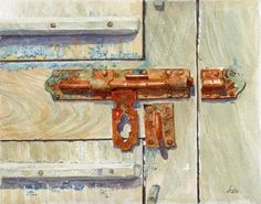 Presbytery door, Sartene, Corsica by Avril Soldani - I hope theres another way in Second in my Corsica series I loved the combination of old wood and . Freedom Art, Oil Pastel Art, Rustic Art, Types Of Painting, Gcse Art, Sketch Painting, Old Doors, Learn To Paint, Watercolor Paintings