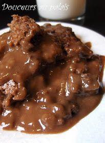 Douceurs au palais: Gâteau-pouding au chocolat Kinds Of Desserts, Easy Desserts, Dessert Recipes, Dessert Ideas, Mousse Dessert, Bon Dessert, Food Decoration, Pudding Recipes, Fudge