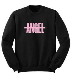NO ANGEL Beyonce Drunk in Love Crew Neck Unisex Mens Womens Sweater Sweatshirt Shirt in Black Drake XO Watermelon Surf board Screenprinted