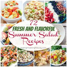 Fresh green salads, indulgent creamy macaroni salads, and everything in-between! Perfect Salads for Summer BBQs and hot nights! Summer Salad Recipes, Summer Salads, Creamy Macaroni Salad, Fresh Green, Cobb Salad, Delish, Cake Decorating, Hot, Summer Salad