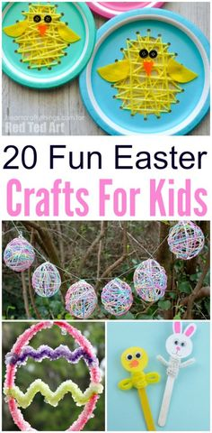 Easter Crafts for Kids. Chicks, bunnies, and Easter Eggs galore. Lots of inspiration for Spring and Easter crafts with this hit list that your preschool and elementary school crowd is sure to enjoy.