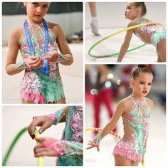 rhythmic gymnastics leotard Ice Skating, Figure Skating, Blue Leotard, Rhythmic Gymnastics Leotards, Plein Air, Sport, Costume Design, Rainbow Colors, Most Beautiful