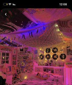 Neon Bedroom, Indie Bedroom, Indie Room Decor, Cute Bedroom Decor, Room Design Bedroom, Teen Room Decor, Room Ideas Bedroom, Bedroom Inspo, Dream Bedroom