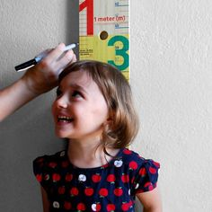 """Better than our door frame -comes in """"feet"""" for us Americans!   MeasureMe Stick by Studio 1a.m."""