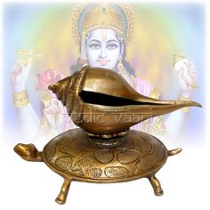 Vedicvaani.com, Shankh on tortoise, Buy Brass Conch Shankh and Turtle set online from the best online store. Shankha is a sacred emblem used as a trumpet in Hindu ritual