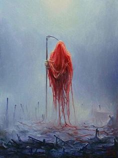Queen Of Patience by Mariusz Lewandowski Dark Art Paintings, Dark Artwork, Face Paintings, Arte Horror, Horror Art, Art Visionnaire, Arte Obscura, Macabre Art, Goth Art