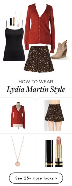 """Lydia Martin Inspired Outfit"" by daniellakresovic on Polyvore featuring Forever 21, J.Crew, Astley Clarke and Gucci"
