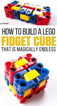Magically Endless Lego Fidget Cube- Perfect DIY idea or activity for kids that can't sit still in the classroom (or anywhere, really)