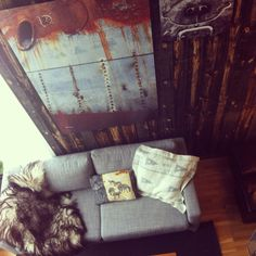 New sofa from ikea. Photo on the wall by Rune Nylund Larsen.