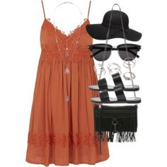 Outfit with a summer dress