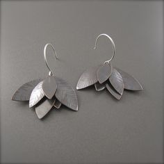Darkened Textured Copper Lotus Flower Earrings – Beth Millner Jewelry