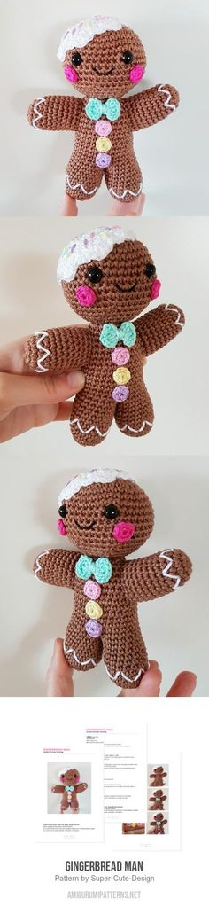 Gingerbread Man Amigurumi Pattern