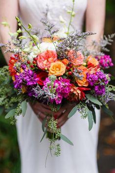 67 Ideas bridal bouquet orange pink purple for 2019 Bridal Bouquet Coral, Red Rose Bouquet, Purple Wedding Bouquets, Rose Wedding Bouquet, Fall Bouquets, White Wedding Flowers, Wedding Colors, Wedding Dresses, Orange Wedding