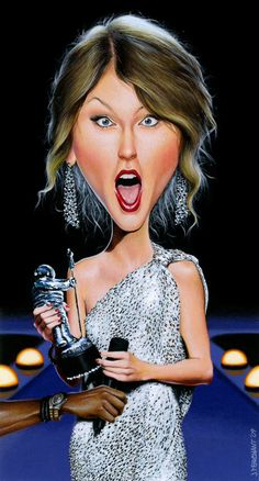 Taylor Swift. Celebrity caricatures