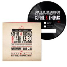 Vinyl Record Label Wedding Invitation Diy Set Printable