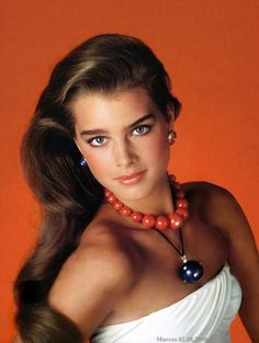 Brooke Shields: Brooke's a clear winter.  We're the only cool season that can get away with this orange.  And she wears it so well!