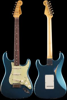 Fender Custom Shop 1963 Stratocaster® Relic Faded Lake Placid Blue (724)