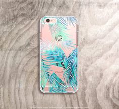 iPhone 6s Plus Case Clear Tropical Leaves iPhone by casesbycsera