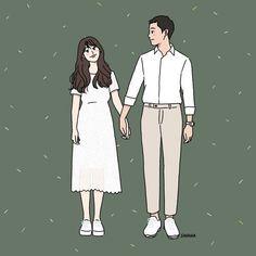 Cute Couple Comics, Cute Couple Cartoon, Cute Love Cartoons, Anime Love Couple, Couple Illustration, Illustration Art, Illustrations, Character Illustration, Cute Couple Drawings
