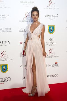 Pin for Later: Alessandra Ambrosio's Red Carpet Style Gets Better and Better as the Year Goes By July in Marbella, Spain