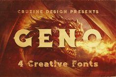 Geno Typeface by Cruzine on @creativemarket