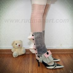 SALE 50  Felted victorian spats Young Lady by RudmanArt on Etsy, $39.00