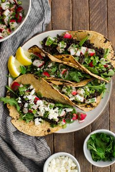 Spicy Lentil Tacos with Radish Salsa and Feta featuring @frontiercoop spices. #sp