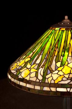 Bedside Lamp Daffodil Standing Stained Glass Dining Room Light Table Desk Office Fixture