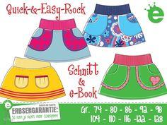 Nähanleitungen Kind - Quick-& Easy-Rock Gr. 74-128 eBook / Schnit... - ein Designerstück von Die_Erbsenprinzessin bei DaWanda