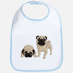 Shop Pug Baby Bibs from Cafepress. Browse tons of unique designs on soft Baby Bibs. Cute Pugs, Baby Bibs, Design, Bibs