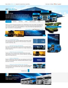 ET Haulier / Strona została wykonana na zamówienie angielskiej firmy transportowej, specjalizującej się w przewozie kontenerów.